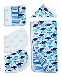 Aden and Anais Boys' Jurassic White Label Swaddles, Bibs & Blanket - Bloomingdale's_0