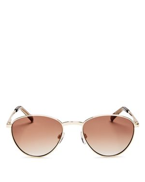 LE SPECS Hot Stuff 52Mm Oval Sunglasses - Bright Gold, Bright Gold/Brown