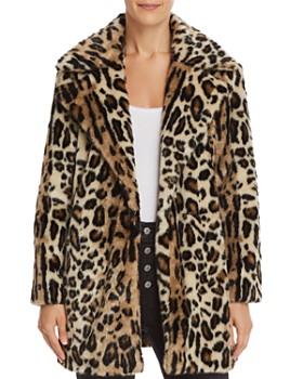 FRAME - Leopard Print Faux Fur Coat