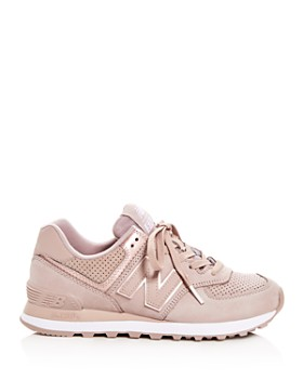 New Balance - Women's 574 Nubuck Leather Lace Up Sneakers