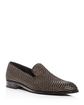 Armani - Men's Woven Smoking Slippers