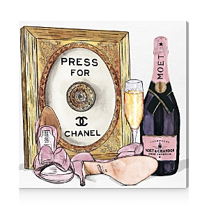 Oliver Gal Champagne Cocktail Canvas Art, 30 x 30