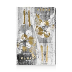 Oliver Gal Gold and Light Bubbly Wall Art, 30 x 45