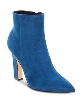 Marc Fisher LTD. - Women's Mayae Suede Pointed Toe High-Heel Booties - 100% Exclusive