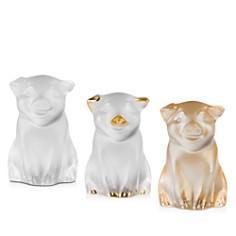 Lalique - Pig Sculptures