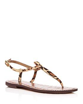 Sam Edelman - Women's Gigi Leopard Print Calf Hair Thong Sandals