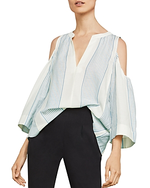 Bcbgmaxazria Elin Cold-Shoulder Striped Top
