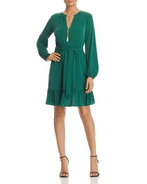 MICHAEL MICHAEL KORS TIE-CHAIN KEYHOLE DRESS