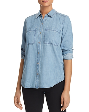 Eileen Fisher Chambray Button-Down Top