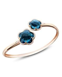 Pasquale Bruni 18K Rose Gold Bon Ton London Blue Topaz & Diamond Floral Bangle - Bloomingdale's_0