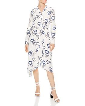 Sandro - Jerzy Heart-Motif Midi Dress
