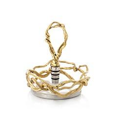 Michael Aram Wisteria Gold Wine Coaster & Stopper Set - Bloomingdale's_0