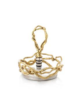 Michael Aram - Wisteria Gold Wine Coaster & Stopper Set