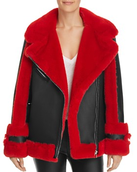 Heurueh - Bad to The Bone Faux-Shearling Moto Jacket