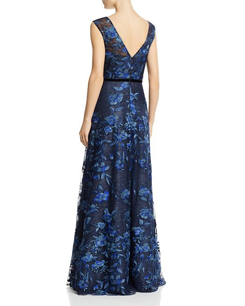 Aidan Mattox Floral Lace Gown   Bloomingdale\'s