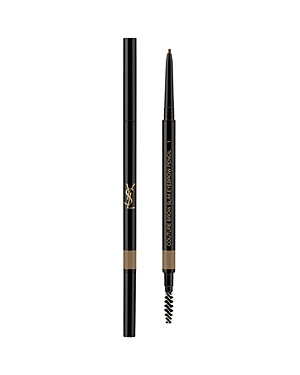 What It Is: An ultra-slim, retractable eyebrow pencil to fill and sculpt brows with ultimate precision. What It Does: The ultra-slim 1.5mm tip of the automatic pencil never needs a sharpener and creates precise, hair-like strokes that look completely natural. Re-design your brow, fill-in, shape and blend with a natural, no-smudge formula. Long-wearing and waterproof, high-definition brows last all day without the need for touch-ups. Ingredients: Polyethylene, Oxokerite, C12-15 Alkyl Ethylhexanoa