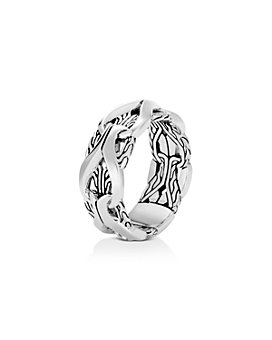 JOHN HARDY - Sterling Silver Classic Chain Interlocking Link Ring