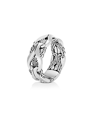 John Hardy Sterling Silver Classic Chain Interlocking Link Ring