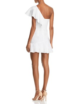 Amanda Uprichard - Vanderbilt Ruffled One-Shoulder Mini Dress