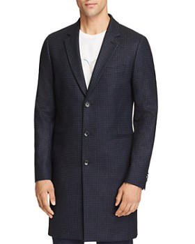 PS Paul Smith - Plaid Long Overcoat