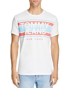 Tommy Hilfiger Logo Stripe Graphic Tee - Bloomingdale's_0