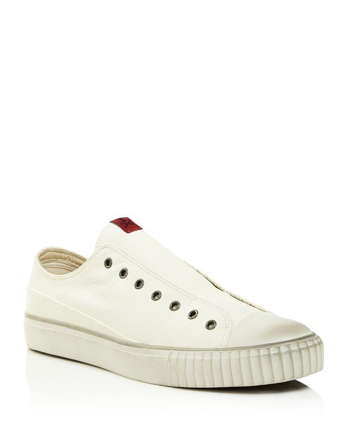 John Varvatos Bootleg - Men's Coated Linen Slip-On Sneakers
