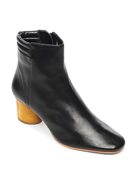 Bernardo - Izzy Wood-Heel Leather Booties