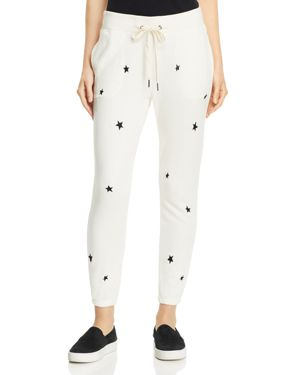 N PHILANTHROPY NIGHT STAR EMBROIDERED JOGGER PANTS