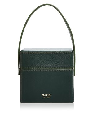 MATEO CATHERINE MINI SAFFIANO LEATHER BOX BAG