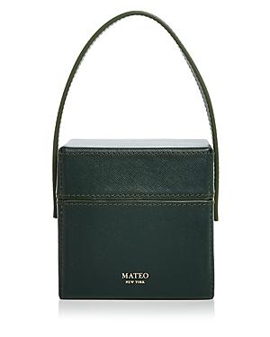 Mateo CATHERINE MINI SAFFIANO LEATHER BOX BAG