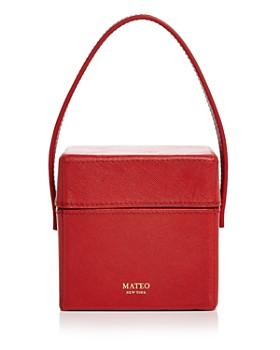 MATEO - Catherine Mini Saffiano Leather Box Bag