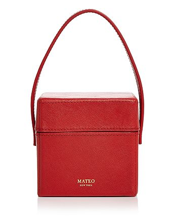 MATEO - Catherine Mini Saffiano Leather Box Bag