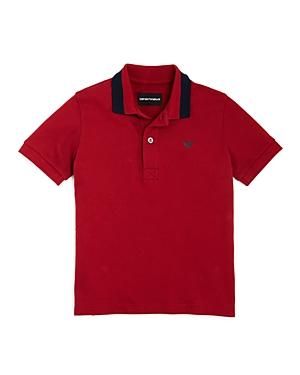 Armani Junior Boys' Contrast Polo Shirt - Little Kid, Big Kid