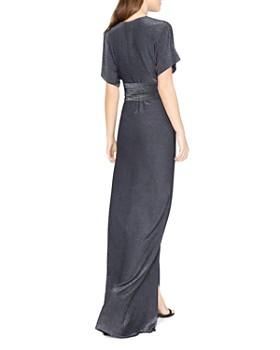 HALSTON HERITAGE - Metallic Jersey Kimono-Style Gown