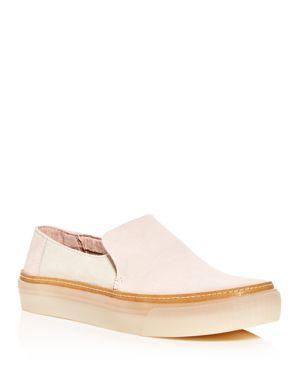 Women'S Sunset Color-Block Suede Slip-On Platform Sneakers, Blush/ Birch Suede