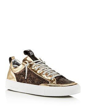 P448 - Women's A8 Soho Patent Leather & Sequin Lace Up Sneakers
