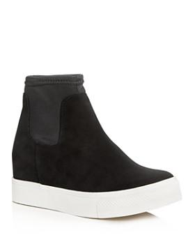 AQUA - Women's Wynn Suede High Top Platform Sneakers