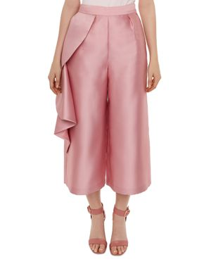 Nannina Wide Leg Ruffle Culottes, Dusky Pink