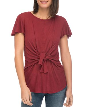 B COLLECTION BY BOBEAU RYLEE TIE-FRONT TEE