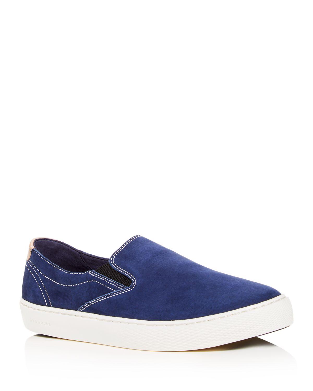 Cole Haan Men's Grandpro Color-Block Nubuck Leather Slip-On Sneakers