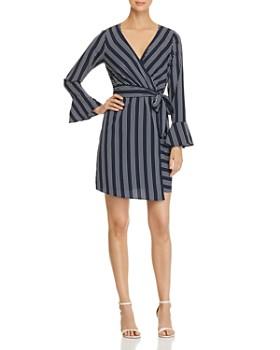 Vero Moda - Nicky Striped Faux-Wrap Dress