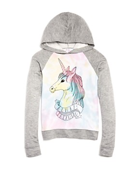 Flowers by Zoe - Girls' Unicorn Always Dreaming Terry Hoodie - Big Kid