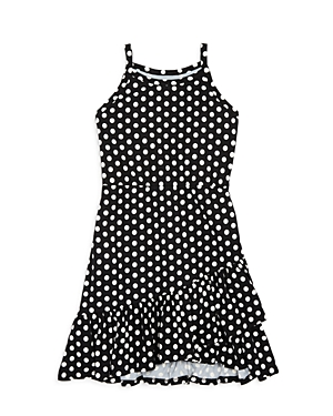 Aqua Girls' Ruffled Polka Dot Dress, Big Kid - 100% Exclusive