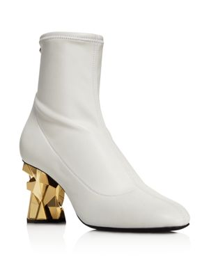 WOMEN'S STRETCH LEATHER BOOTIES