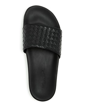 Bottega Veneta - Men's Woven Leather Slide Sandals