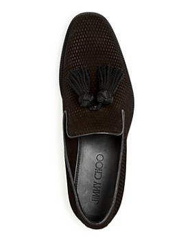 Jimmy Choo - Men's Foxley Embossed Velvet Tassel Smoking Slippers