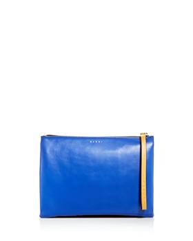Marni - Multicolor Double-Sided Leather Pouchette Clutch