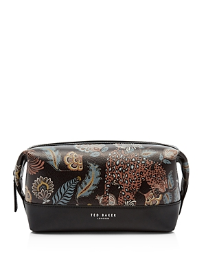Ted Baker Clubb Printed-Leather Wash Bag In Black  8005cd0e6a45f