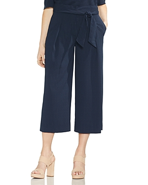 Vince Camuto Pinstriped Wide-Leg Cropped Pants