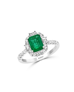 Bloomingdale's - Emerald & Diamond Cocktail Ring in 14K White Gold - 100% Exclusive